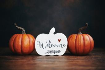 Pumpkin Welcome Plaque