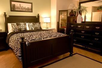 Bedroom with zoology motif