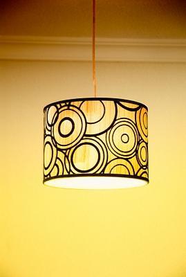 drum style retro lampshade