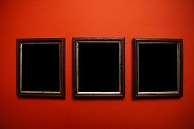 grouping of wall art frames