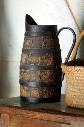Wooden pitcher