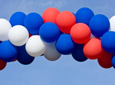 patriotic balloon display