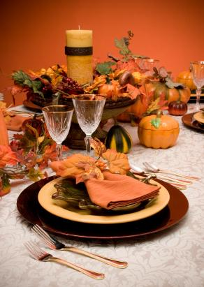 Thanksgiving table centerpiece