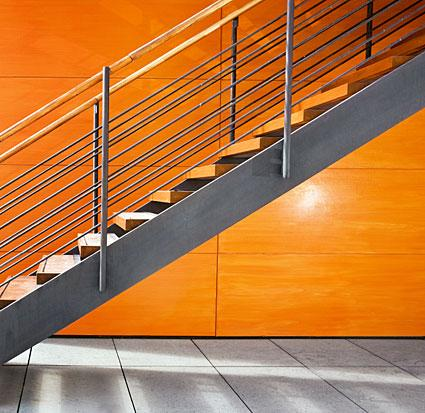 Modern Stairs with Railing