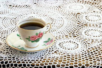 Tea On A Lace Tablecloth