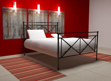 Red And White Bedroom; Copyright Anna Oleksenko At Dreamstime.com