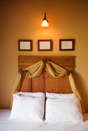 Coat rack headboard