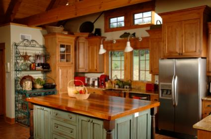 country themed kitchen decor. country kitchen with wood counters Country Kitchen Design  LoveToKnow