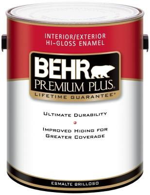 Behr Premium Plus Interior-Exterior High-Gloss Paint