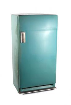 1950s aqua refrigerator