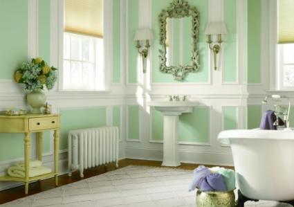 Behr paints art deco bathroom