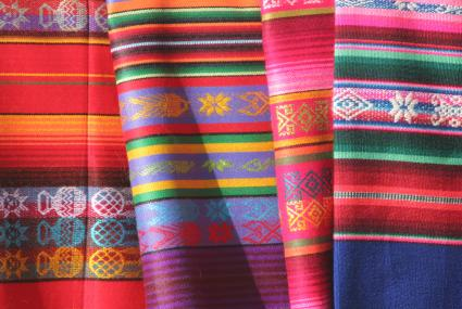 Textures Of Southwestern Style Interior Design. Southwestern Blankets
