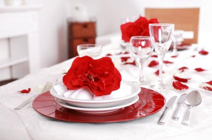 Romantic party setting