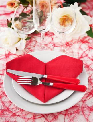 Fun Valentine's Day table setting