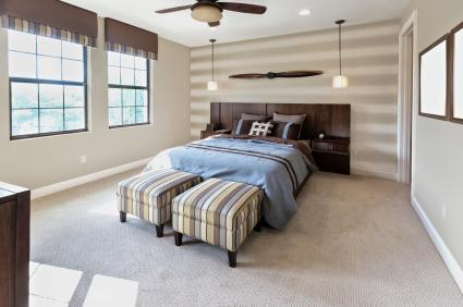 Staged bedroom
