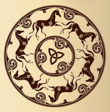 Celtic horse wall art