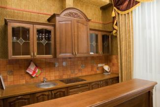 Textured kitchen wall
