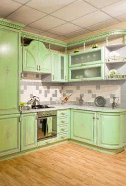 Raised kitchen molding