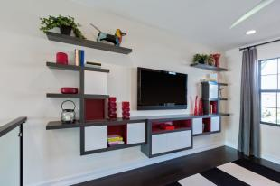 Family Room Wall Shelves