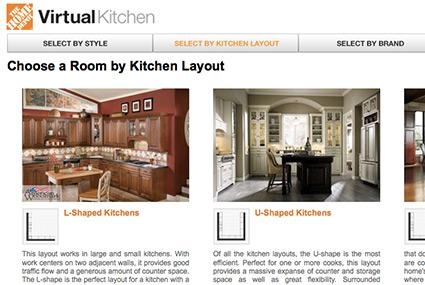 virtual kitchen designer home depot interactive kitchen design 8864