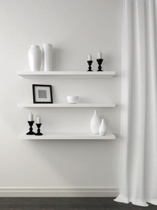 vertical floating shelves