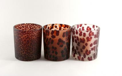 leopard candles