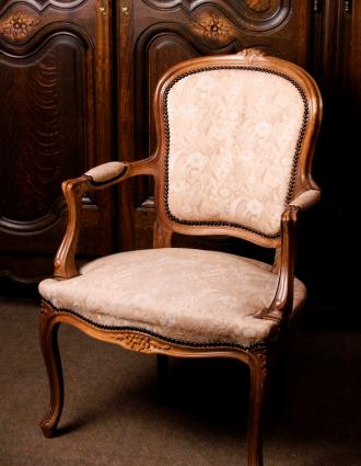 French chair with cabriole legs