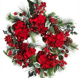 Cardinal Christmas Holiday Wreath 22 inch