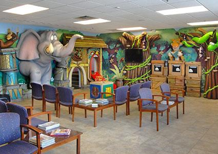 Reception room at Teays Valley Pediatric