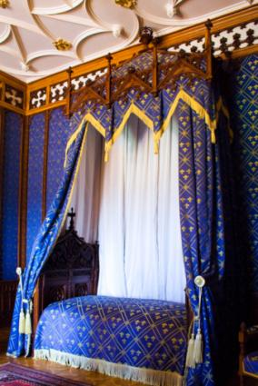 Blue Gothic Bedroom