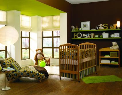 brown and green nursery