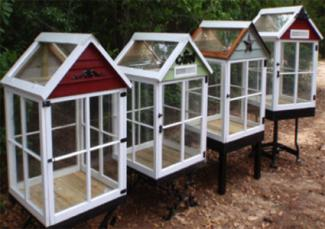 Miniature greenhouses from old windows