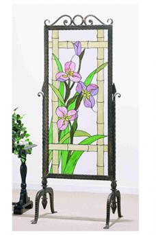 Meadow Beauty Stained Glass Panel