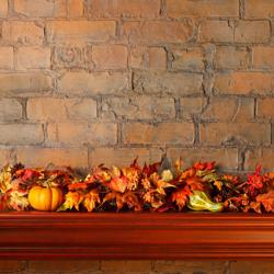 Autumn mantel decoration