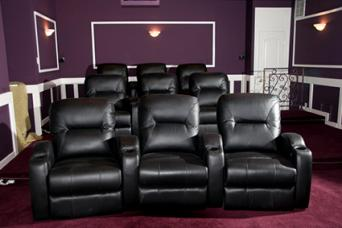 Home theater interior design lovetoknow - Home theater stadium seating design ...