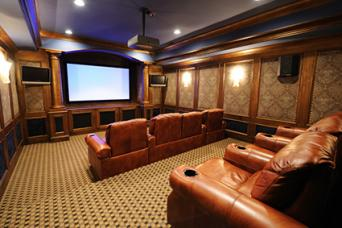 Ornate Luxury Home Theater