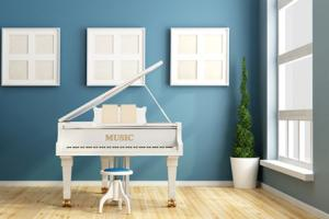Blue Music Room Interior