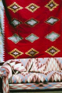 Red Native American Hanging Blanket