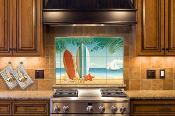 surf theme kitchen