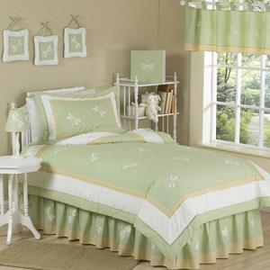 Sweet Jojo Designs Green Dragonfly Dreams Kid Twin Bedding Collection