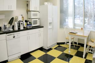 Black and Yellow Tile Floor