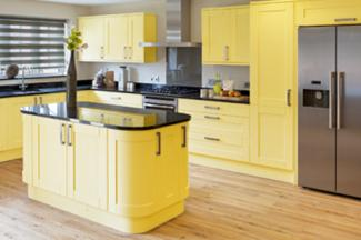 Yellow Country Kitchen Cabinets