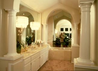 Lighting in luxury bathroom