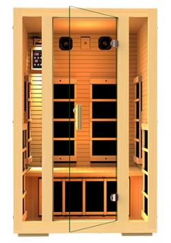 Two-person infrared sauna