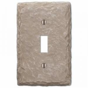 Faux Slate Almond Resin Wallplate