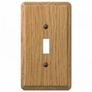 Contemporary Light Oak Wood Wallplate