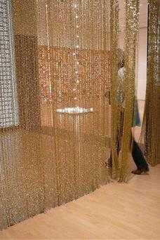 Gold Bead Curtain