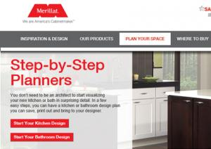 Merillat 3D Kitchen Design Planner. Merillat Plan Your Space