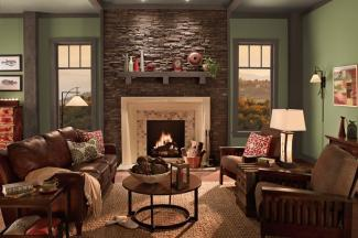behr paints bungalow den - Interior Design Ideas For Bungalows