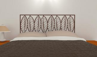 Oversized Leaves Pattern Headboard Decal